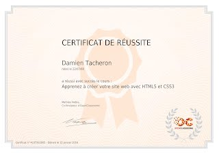 Certification HTML5 CSS3